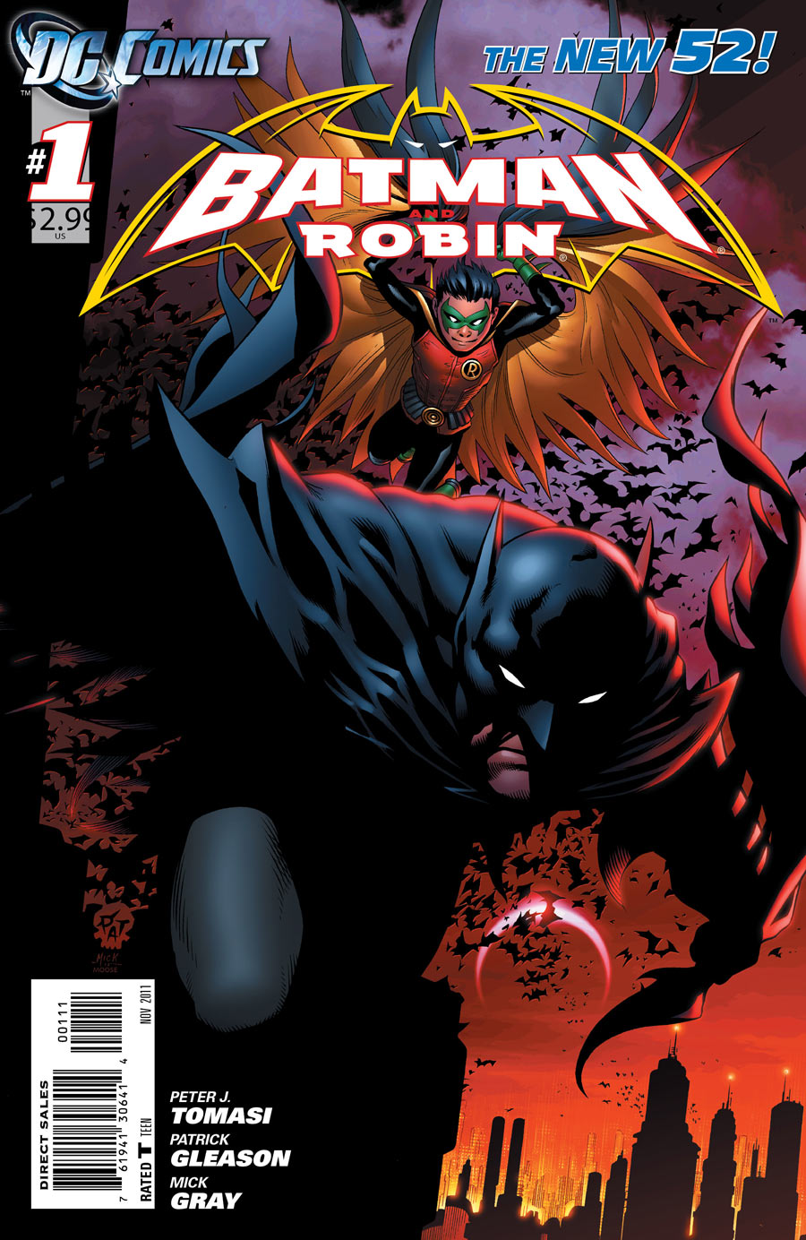 Batman and Robin #1 cover