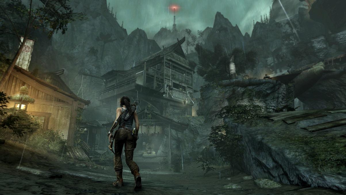 لعبة Tomb Raider تورنت+الفيكس+ملفات اللغة العربية Raining-mountain-village-screen