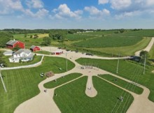 Field of Dreams Aerial Shot