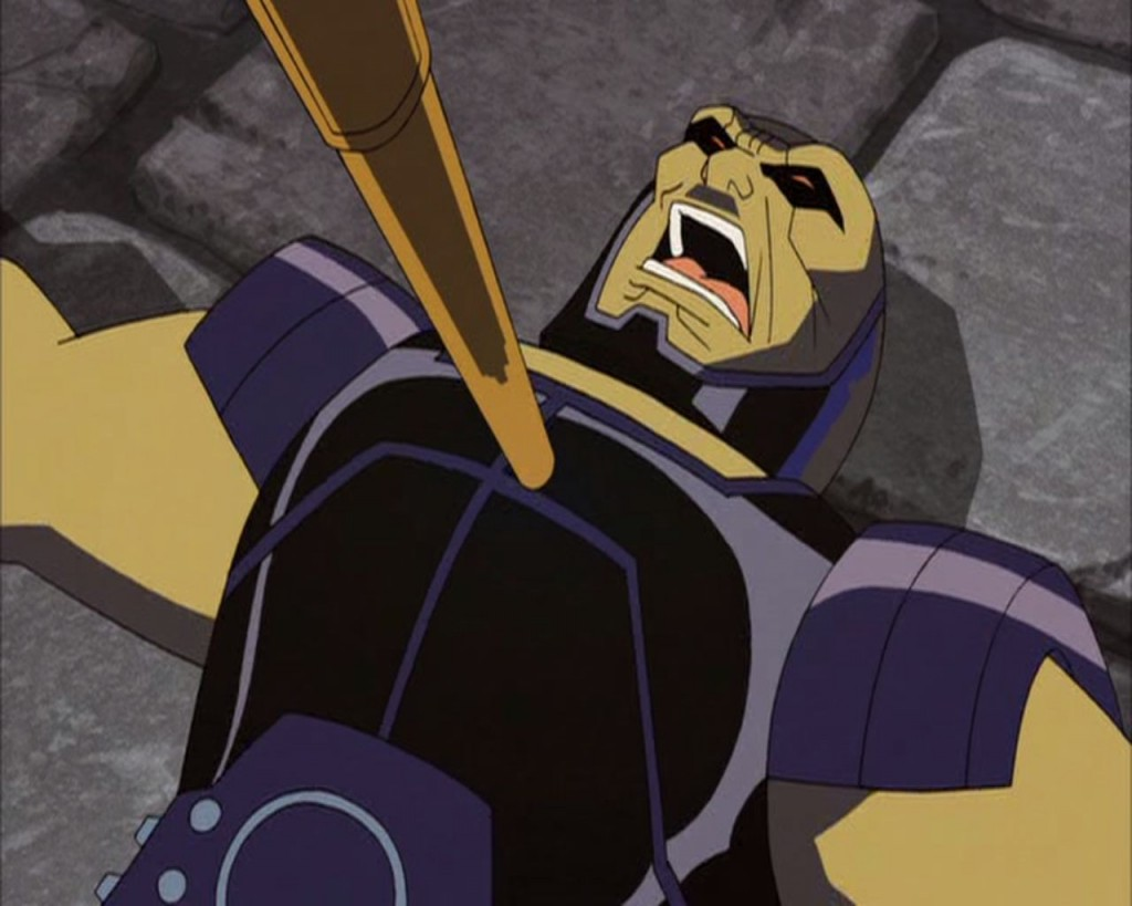 Darkseid being attacked.