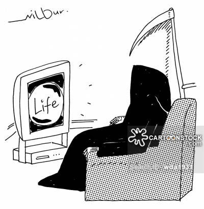 Grim Reaper watches show called Life.