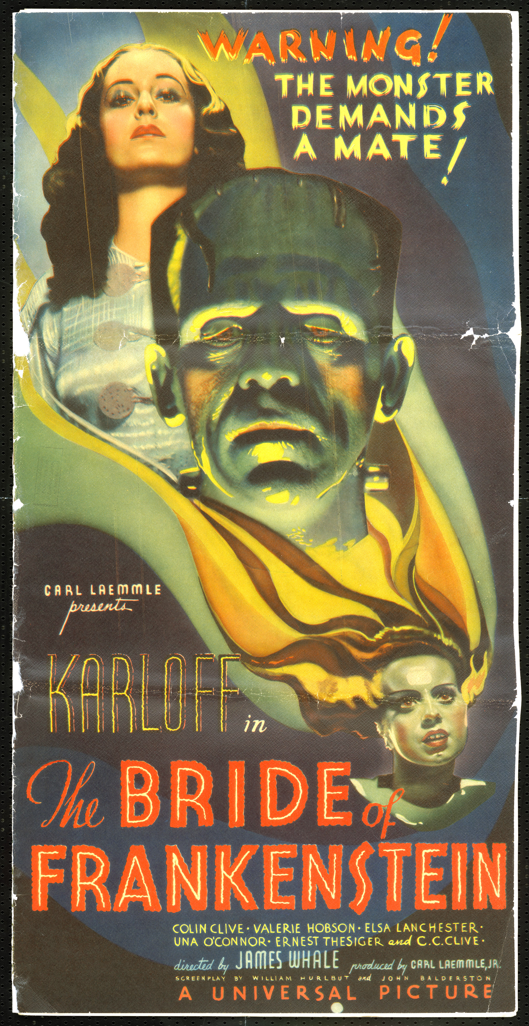 "The Academy of Motion Picture Arts and Sciences will host a month-long series of screenings of classic horror films with ""Universal's Legacy of Horror"" in October.  The series is part of the studio's year-long 100th anniversary celebration engaging Universal's fans and all movie lovers in the art of moviemaking.  Pictured: THE BRIDE OF FRANKENSTEIN, 1935."
