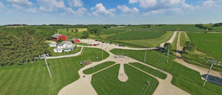 Field of Dreams Aerial Shot
