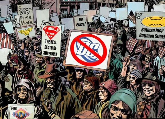 Fans Protest DC Comics